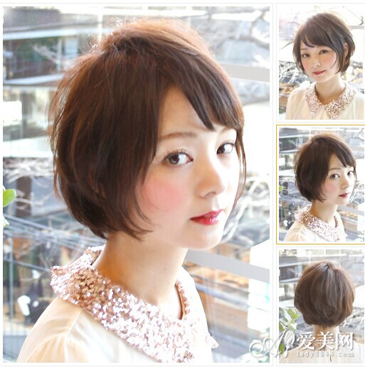不喜欢长发的女生可以尝试这样的短发造型哦,简单的发尾内卷之后卷翘