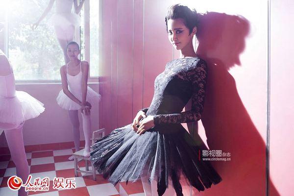 高清:张歆艺最新封面大片曝光 化身冷魅黑天鹅
