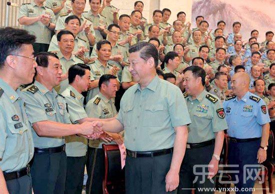 近平接见驻福州部队师以上领导干部图片
