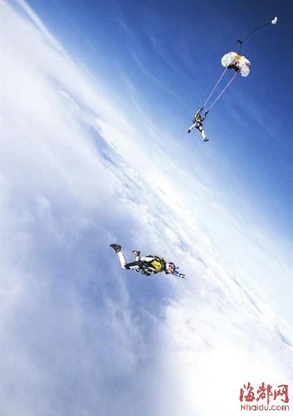 度时拉开自己的降落伞