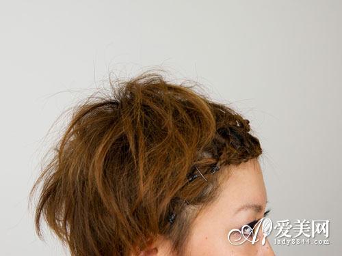 刘海编发教程图解 打造时尚短发图片