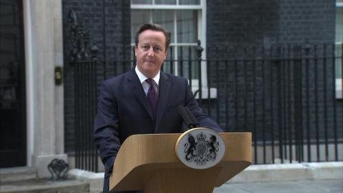 英国首相卡梅伦发表讲话,称现在联合王国应该团结一心,共同前进。
