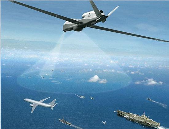 图片:MQ-4C Triton的无人机(图片来自格鲁曼公司)