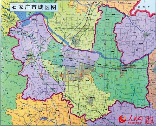 行政区划调整后的石家庄市城区图(图片来源:石家庄市区划地名办公