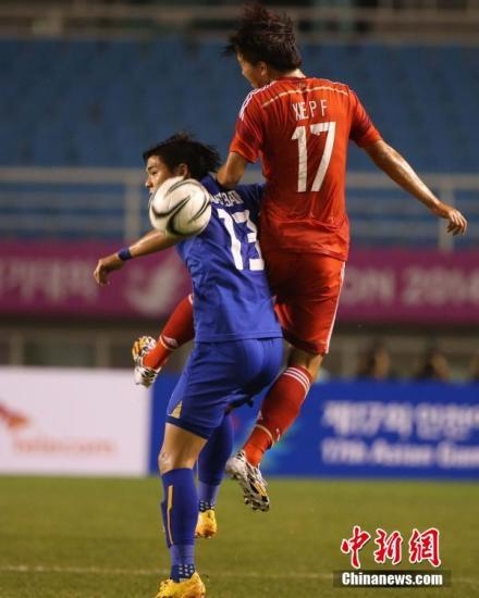 仁川亚运会:中国国奥男足0:2不敌泰国无缘八强