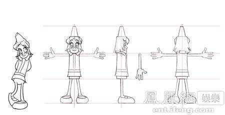 《蜡笔总动员》角色原稿曝光 打造首部蜡笔题材动画