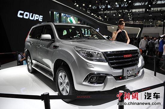 闭上�9�/9/h9�9��o^�_资料图:北京车展发布的哈弗 h9 中新网 刘博摄