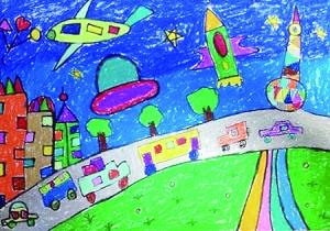 幼儿园中班 谢星语 猫头鹰 新加坡南洋小学2年级k班 张羽磐 儿童科幻图片