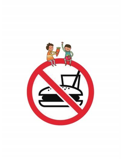 学校食堂泔水桶标志