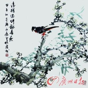 广州日报艺术扶贫书画作品|国画|潘鹤_凤凰资讯图片