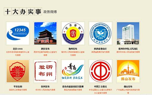 @西安发布、@陕西省教育厅获评2014十大办
