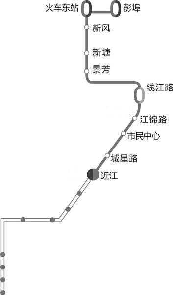 杭州地铁1 2 4号线票价梯形图 地铁4号线 首通段 公交接驳线路表图片