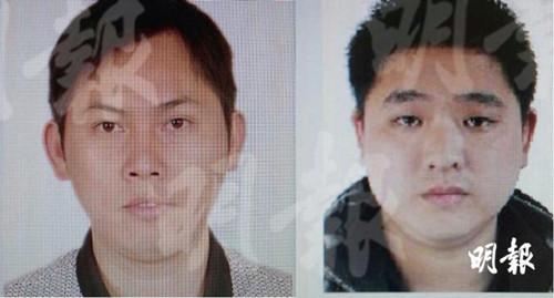 警方已掌握其中两名涉案男子的照片。(香港《明报》网站)