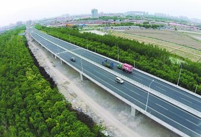 京津塘天津北部新区段改造后通车