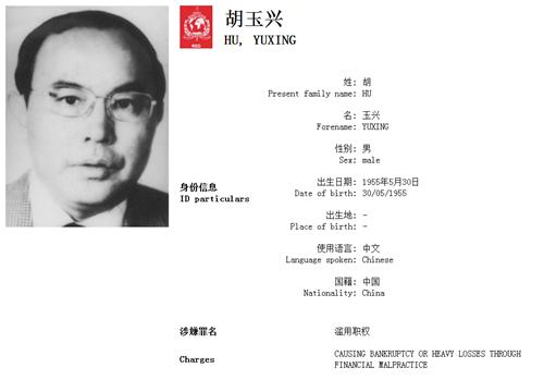 胡玉兴。(国际刑警组织中国国家中心局网站)