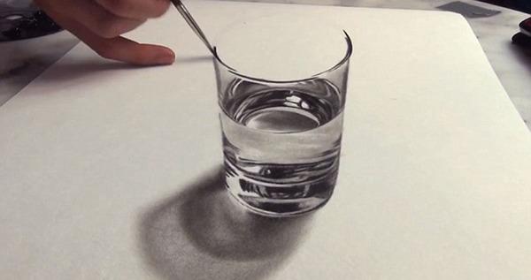 俄画家创作3d立体画 效果逼真虚实难辨(组图)