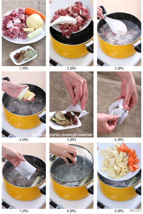 放入切好的土豆块