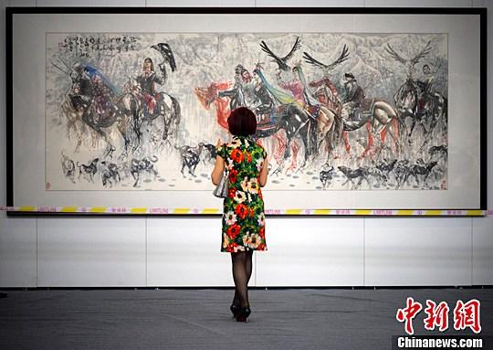 中华书画精品联展 乌鲁木齐展出 汇集中国书画界名家作品