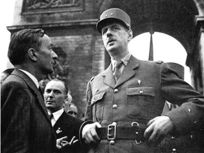 资料图片 夏尔·戴高乐(1890-1970) 法国军事家,政治家,外交家