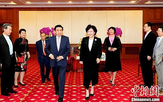 裘援平会见新加坡华裔精英人士访华团