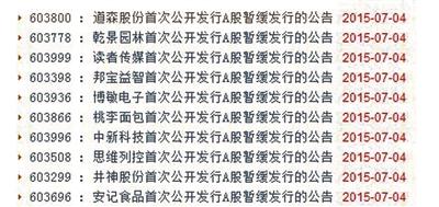 沪深两市深夜发布新股暂缓发行公告截图