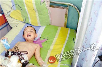 床上 女童/杨馨雨在病床上...