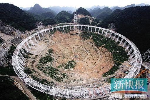 ■FAST工程预研究历时13年,2011年3月25日开工建设。(新华)