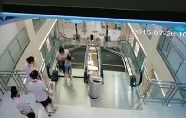 事故现场(视频截图)