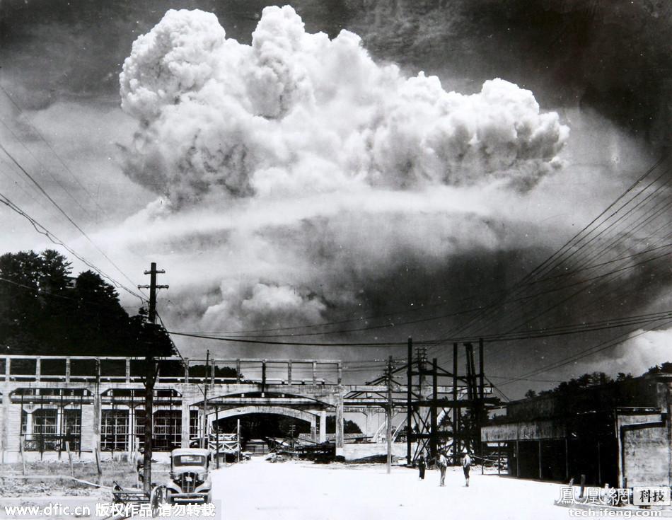 广岛原子弹爆炸70周年:实拍当时原子弹爆炸场