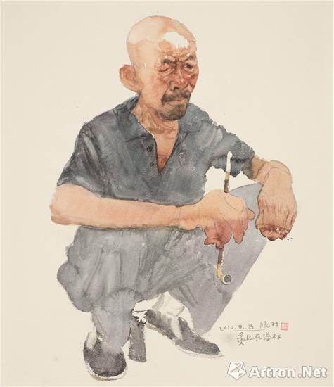 第四届墨彩情致中国当代水彩画情趣澳门开幕头套名家图片