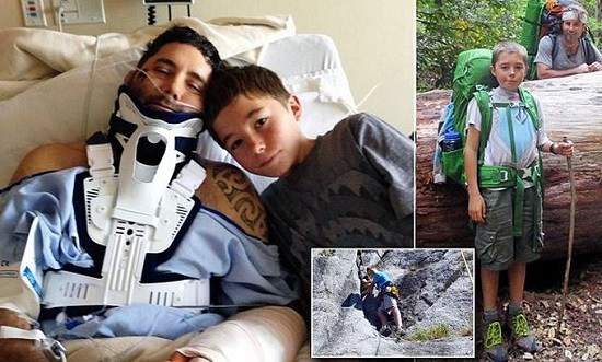 爸被石头砸晕 13岁男孩临危不惧勇救父