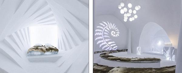 瑞典冰雪酒店华美套房设计图曝光 将用5000吨冰雪打造