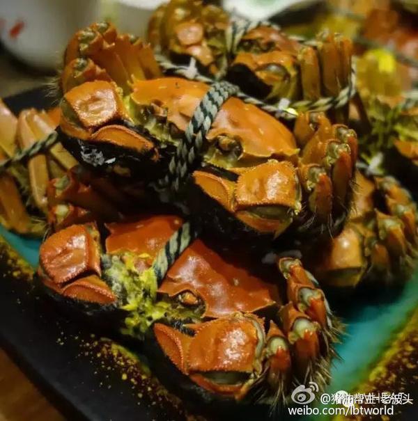 大闸蟹/大家印象中对付大闸蟹蒸的方法要比煮的好,以为蒸的手法更原汁...