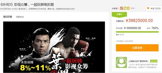苏宁众筹推叶问31天4000万使用影视众筹行x教程刷新诺基亚图片