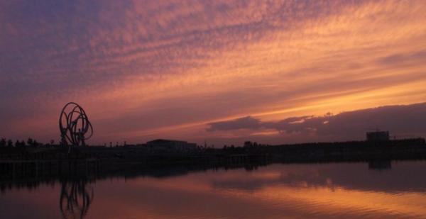 馆陶公主湖暮景(图片来自网络)
