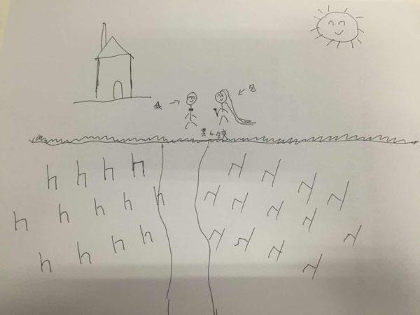 包贝尔婚礼手绘图曝光 似儿童涂鸦遭疯狂调侃