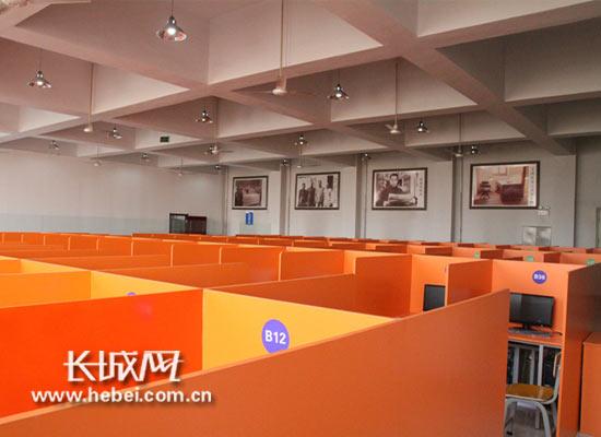 河北外国语学院获批托福考试教室。学校供图
