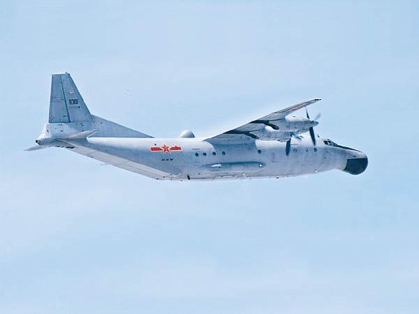 前日发现一架中国的运-8海上巡逻机在东海上空飞行