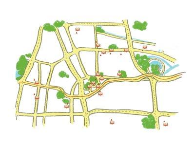 郑州最美书店手绘地图