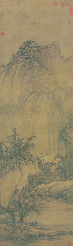 古风纹理背景素材竖版