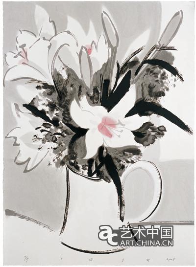 刘巨德-百合花,签丝
