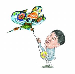 手绘素描老鹰风筝图片