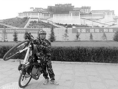 大二学生从大理骑车到拉萨 26天骑行2600多公里图片