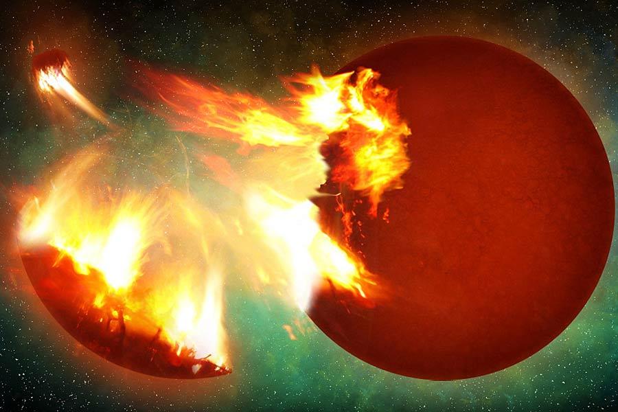 """现代意义上的大爆炸理论是由1932年勒梅特首次提出,他认为宇宙最初聚集在一个""""原始原子""""中,一场大爆炸使得原始原子碎片四散从而形成了宇宙。1948年,伽莫夫将爱因斯坦广义相对论融入大爆炸理论中,提出原初物质由几十亿度高温逐渐冷却膨胀成宇宙。"""