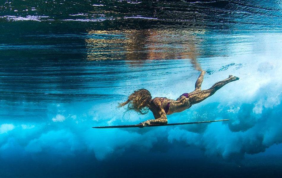 清凉一夏 比基尼冲浪美女玩转夏威夷深海