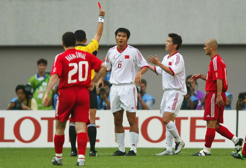 最后一场:2002年6月13日,首尔,中国队在世界杯最后一场小组赛