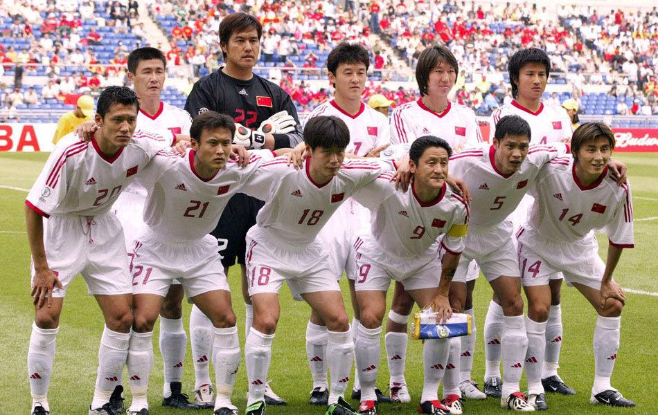 首场:2002年6月4日,光州,中国男足历史上首场世界杯赛的登场亮