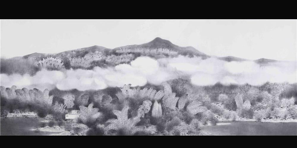 江南云水卷 320x168cm