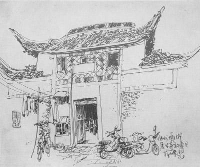 """""""对于创作这部《老扬州风景速写画法》的缘由,薛峰如此说道."""