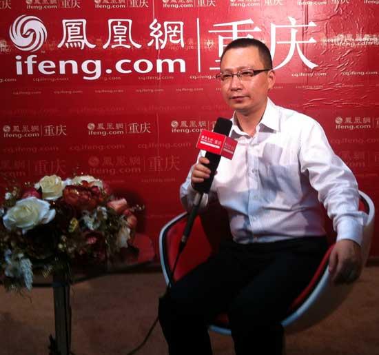郭春林/图为科而士鞋业总经理郭春林作客凤凰网重庆站会客厅